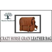 Crazy Horse Grain Leather Bag