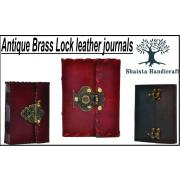 Antique Brass Lock Journal