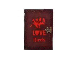 Vintage New Design Cut Work Leather Journal Embossed Love Birds Notebook Diary