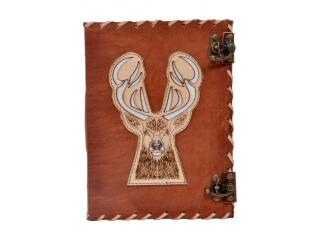 Direct Factory Prize Leather Journal Wholesaler New Cut Work Design Deer Journal Notebook