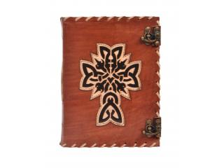 Vintage Leather Journal Wholesaler New Design Vintage Cross Handmade Notebook Blank Paper Leather Journal