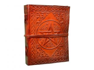 Celtic Leather Journal Writing Notebook PENTAGRAM Leather notebook Handmade Leather Bound Daily Notepad For Men & Women Unlined Paper