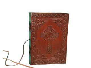 cotton paper Handmade Leather journal - Celtic Weave Cross diary unlined Paper Note book Journal