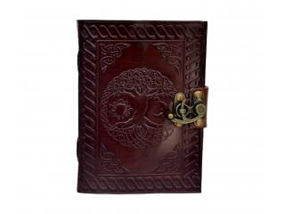Celtic Embossed Leather Journal Diary Handmade with leather strap closure Blank Book