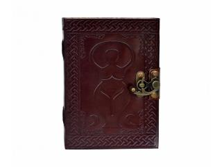 Celtic Shadow Mother Earth Goddess leather journal diary notebook sketchbook Handmade India