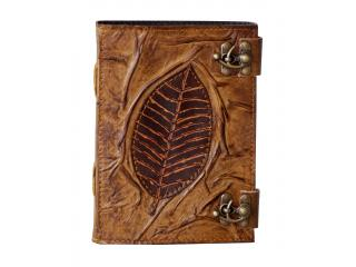 Handmade Leaf Of Tree Leather Journal Sketchbook & Notebook
