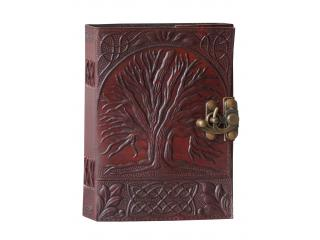 Tree Of Life Handmade Leather Sketchbook Diary Journal Unlined Pages Handmade Leather Cover Embossed Journals Pockets Diary Notebook