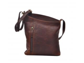 Leather Bag For Women's Buffalohide Genuine Leather Mini Purse Small Cross body Shoulder Bag Brown