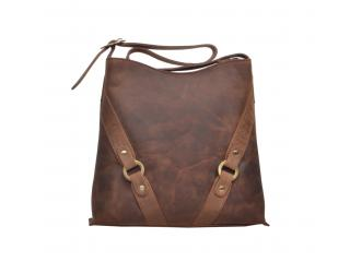 Women Buffalo Hunter Leather Shoulder Bags Tote Purse Bag Pure Color