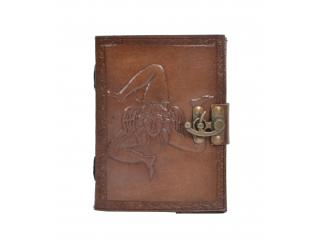 Vintage Handmade Leather Journal New Design Carbon Color Notebook