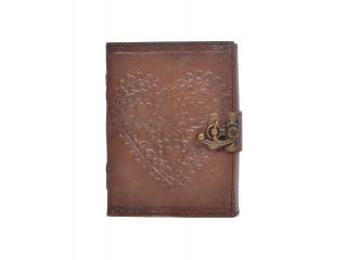 Handmade Charcoal Antique Love  Embossed Leather note book journal handmade book Embossed Note Book Diary
