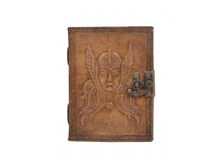 Handmade Vintage New Antique Design Queen Embossed Leather Journal Notebook Charcoal Color Journals 7x5 Inches Notebook