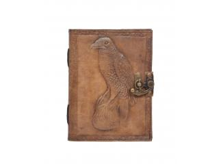 Antique Design Handmade Eagle Embossed Leather Journal Notebook Charcoal Color Journals Notebook & Sketchbook