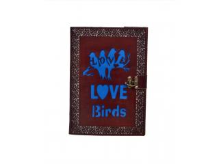 Vintage Genuine New Design Cut Work Leather Journal Embossed Love Birds Notebook Diary