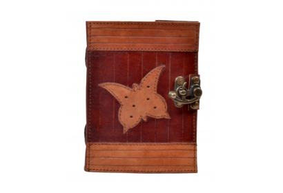 Vintage Handmade Antique Butterfly Leather Journal Diary & Notebook
