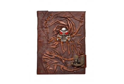 Vintage Leather Journal Antique Design Monster Look Day Of Dead Diary