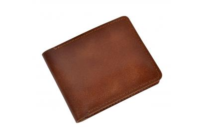 Newest Mens Hunter Leather Bifold Card Wallet Fashion Purse Genuine Leather Men's Wallet