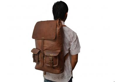 Leather Brown Backpack bag