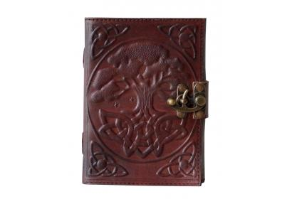 Handmade Leather Tree Of Life Journal Handmade Leather Cover Embossed Diary Notebook & Sketchbook