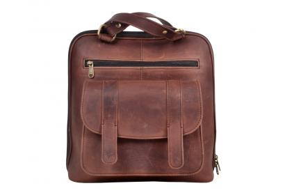 Men's Vintage Genuine Crazy Horse Cow Leather Messenger Shoulder Bag Briefcase