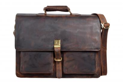 New Rare Crazy Horse Leather Men's Briefcase Laptop Bag Travel Messenger Bag