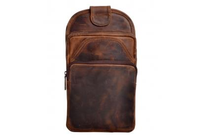 Mens Genuine Crazy Horse leather Travel Bag Rucksack Vintage Shoulder Backpack
