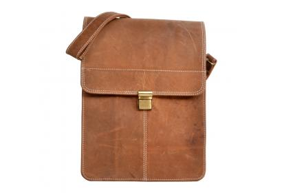 Men Briefcase Crazy Horse Leather  Laptop Shoulder Bag Office Messenger Tote