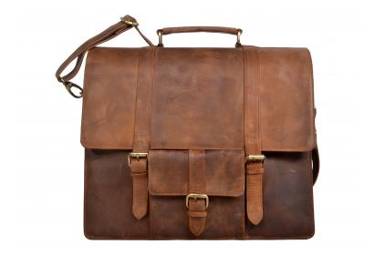 New Design Men Crazy Horse Leather Laptop Bag Briefcase Shoulder Attache Messenger  Bag