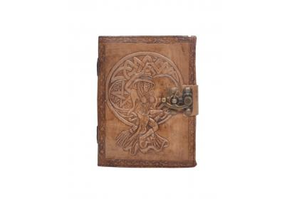 Handmade Charcoal Antique the angel  Embossed Leather note book journal handmade book Embossed Note Book Diary