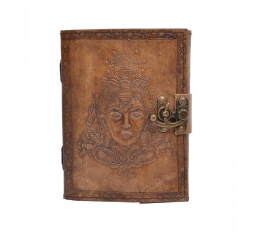 Handmade Blank Cotton Paper Leather Journal Queen Embossed Notebook