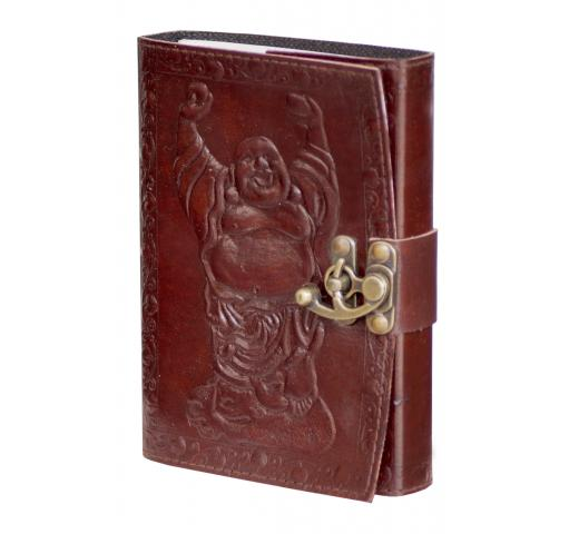 Handmade Embossed Laughing Buddha Antique Design Notebook & Sketchbook Journals Diary